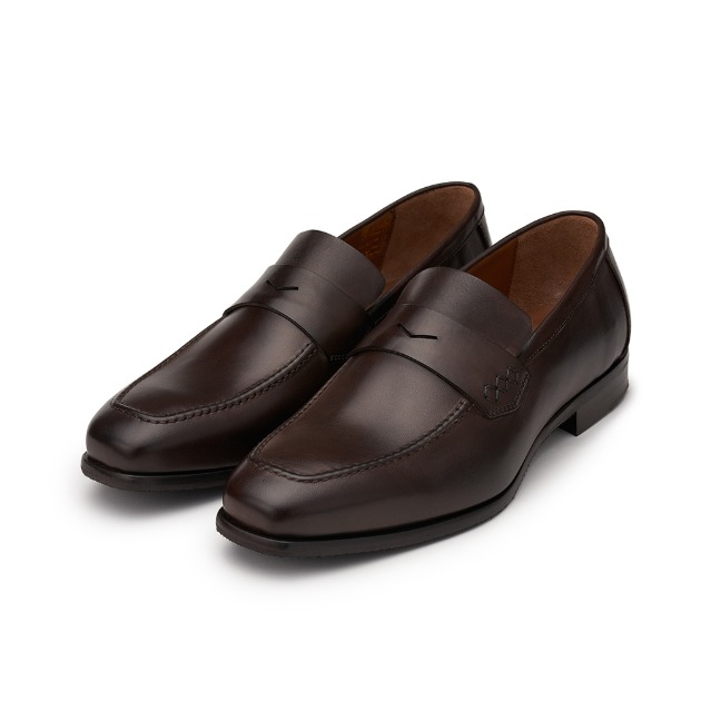 L204 Via Roma Loafer - Dark Brown