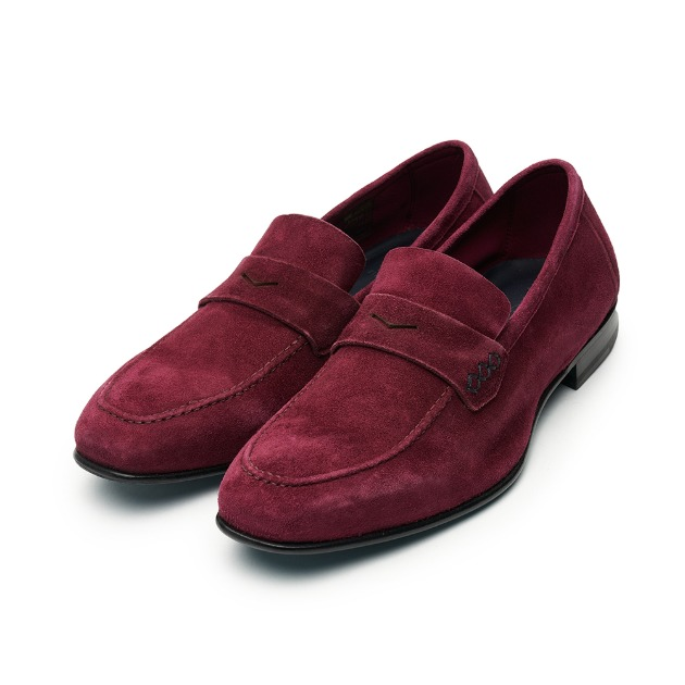 L204 Via Roma Suade Loafer - Burgundy