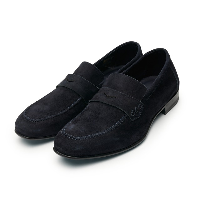 L204 Via Roma Suade Loafer - Navy