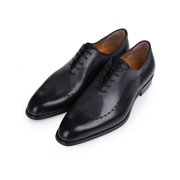 T688 Brogue Oxford Shoe - Charcoal