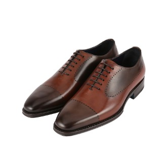 1113X Heritage Brogue Detail Oxford Shoe - Brown Tone-on-tone