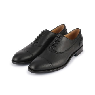 SM190 Brogue Detail Wing-tip Derby Shoe - Black