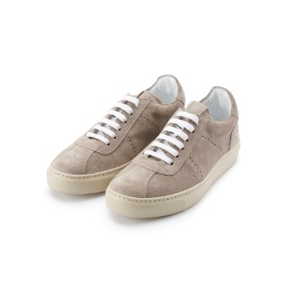 La Luna Sneakers - Grey Suede/Cream Combo
