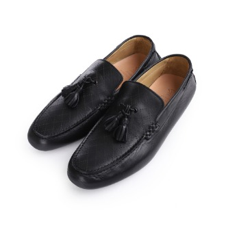S1067X Tassel Detail Driving Shoe - Black