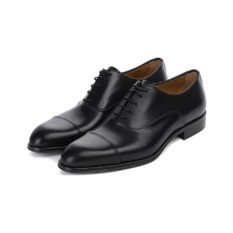 T695 Straight-tip Oxford Shoe - Black
