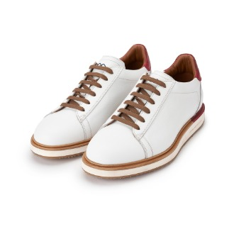 L500 Derby Sneakers - White/Wine Combo