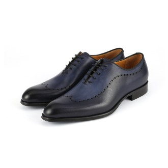 T688 Brogue Oxford Shoe - Blue