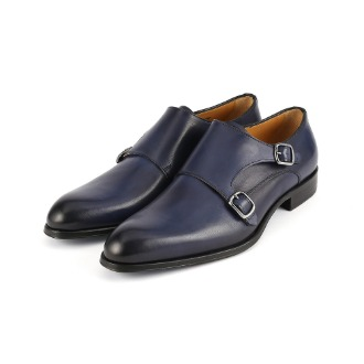 T618 Double Monk Strap Shoe - Blue