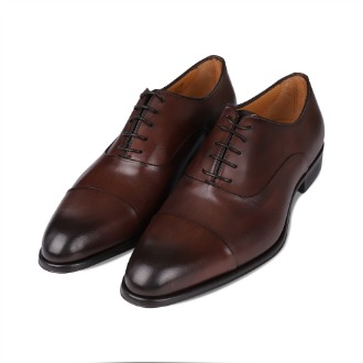 T695 Straight-tip Oxford Shoe - Brown